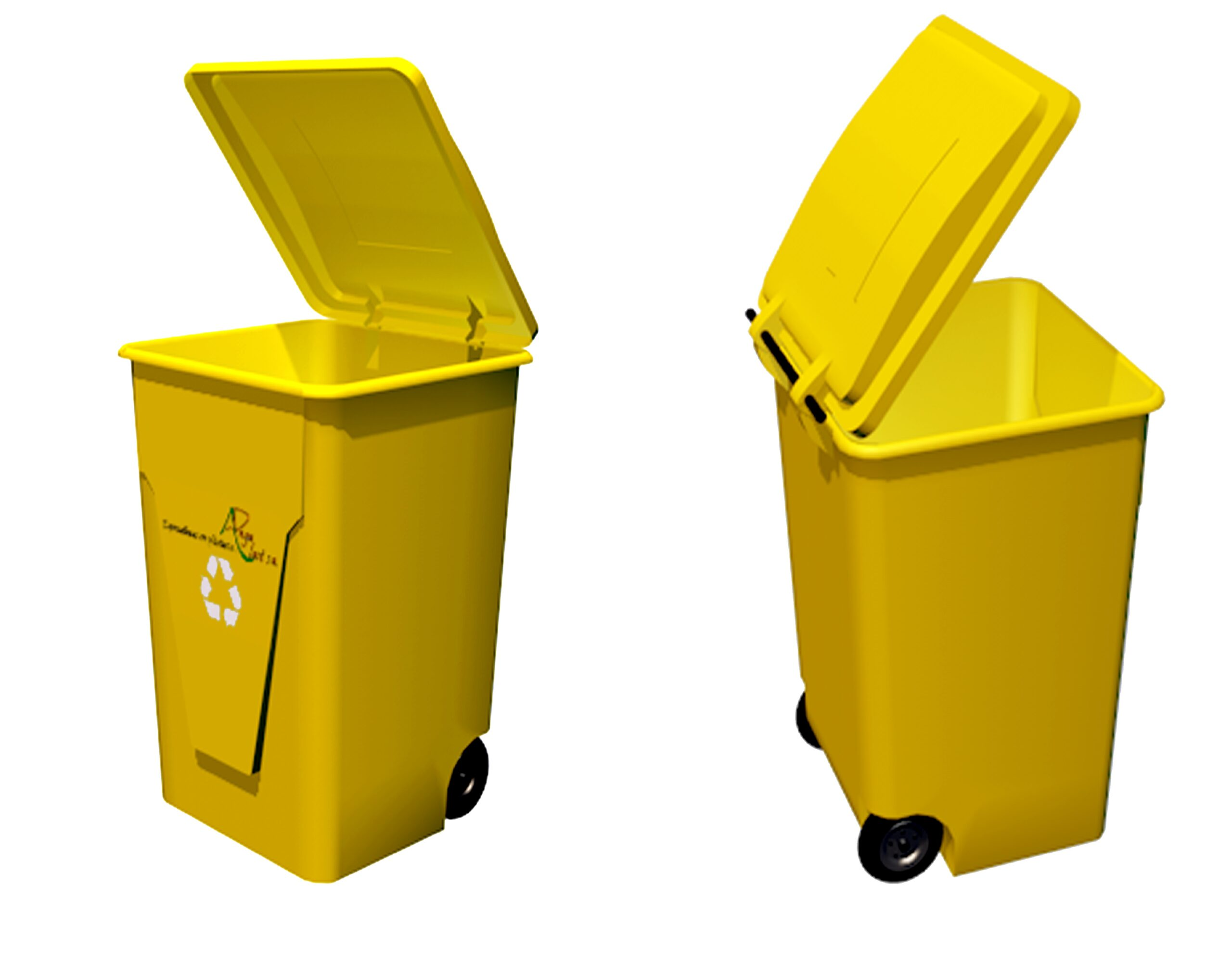 Tacho reciclador de 210 litros