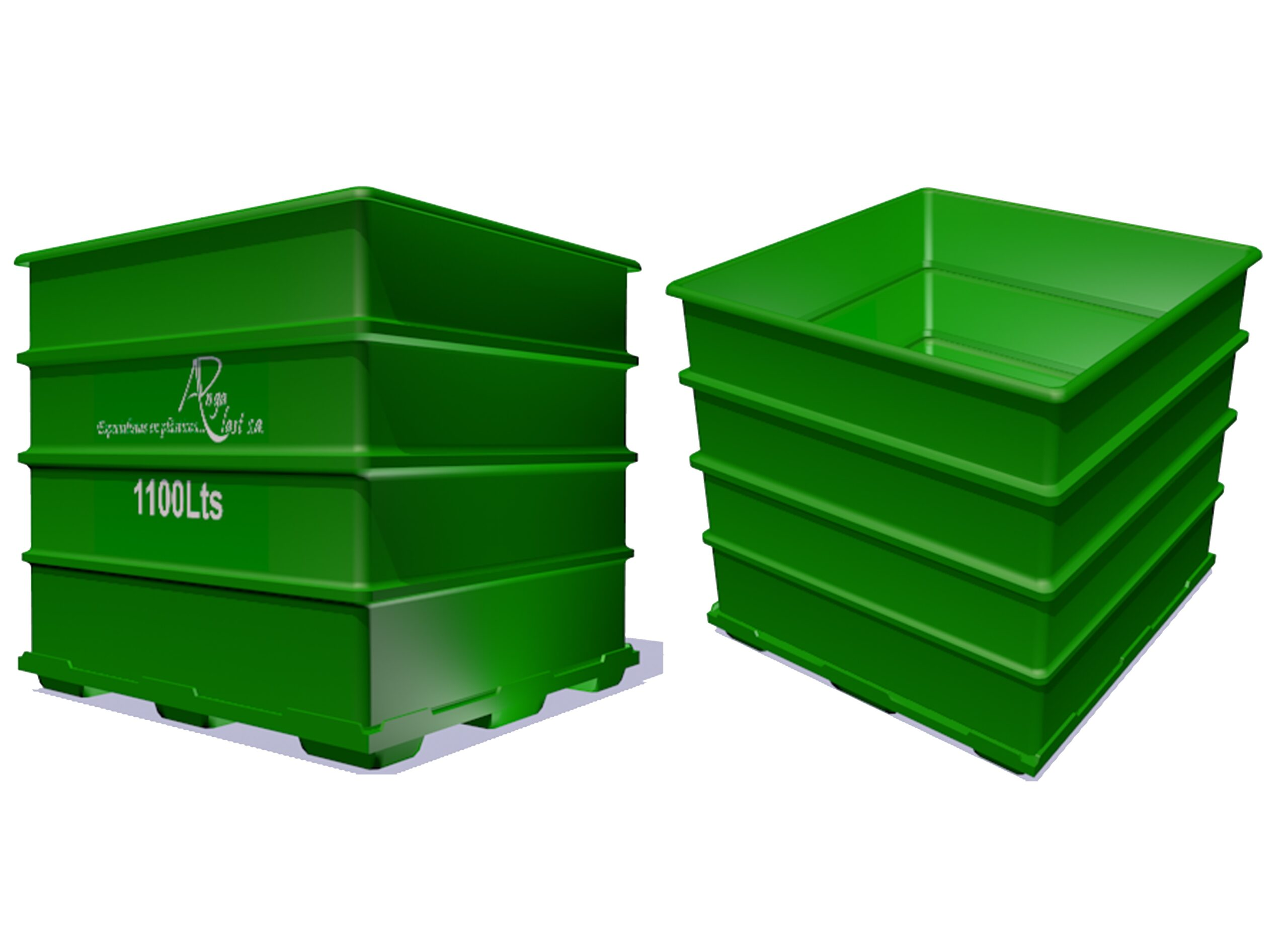 Tacho reciclador de 1100 litros